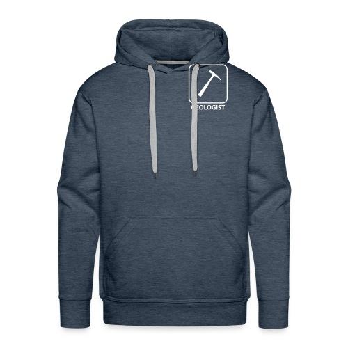 Geologist hammer - Sweat-shirt à capuche Premium pour hommes