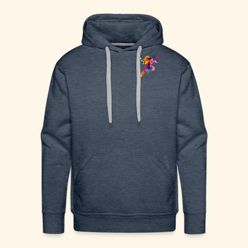 Running colores - Sudadera con capucha premium para hombre