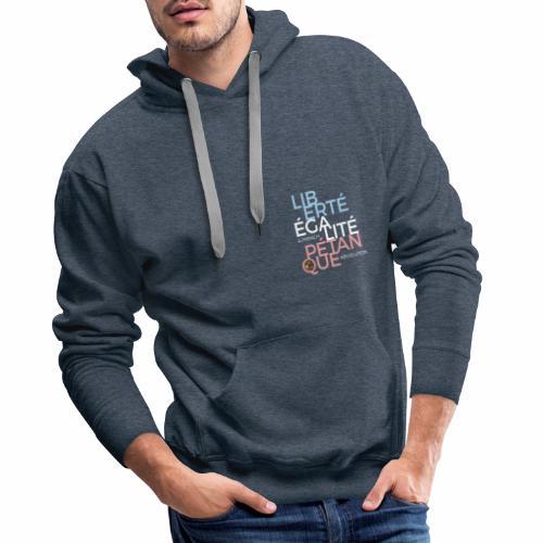 LIBERTE EGALITE PETANQUE - CLAIR - Sweat-shirt à capuche Premium pour hommes