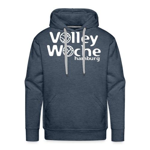 logo volleywoche weiss - Männer Premium Hoodie