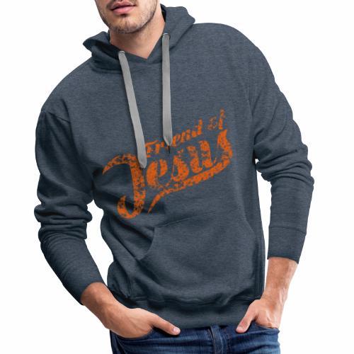 Friend of Jesus orange - Männer Premium Hoodie