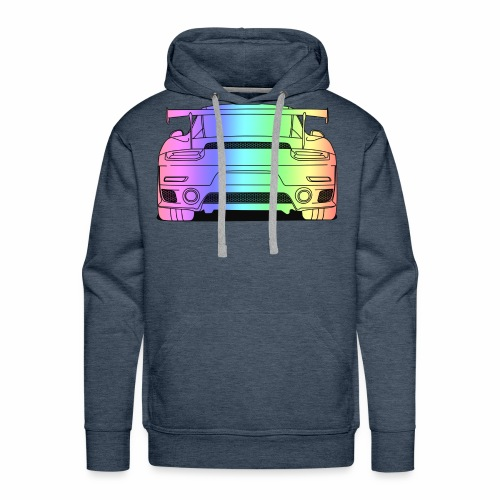 cool car rear colourful - Men's Premium Hoodie