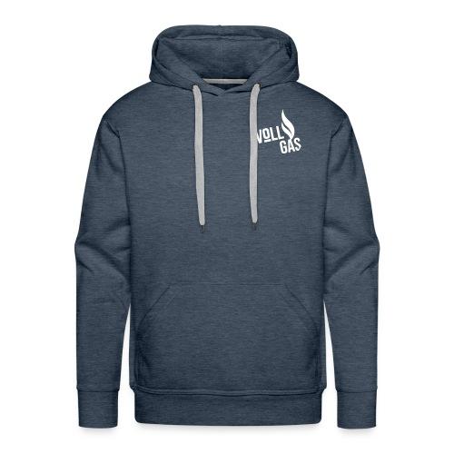 vollgas_logo_V3_WHT_TYPO - Männer Premium Hoodie