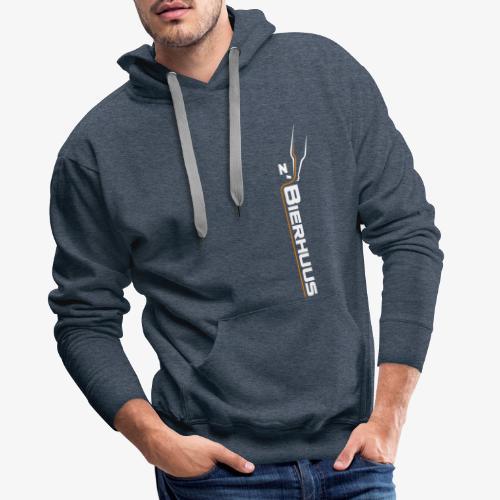z`Bierhuus Logo weiss Vertikal - Männer Premium Hoodie