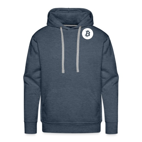 Bitcoin_logo_small - Mannen Premium hoodie