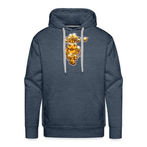 Goldene Gangster Kuh / Gold Thug Cow - Männer Premium Hoodie