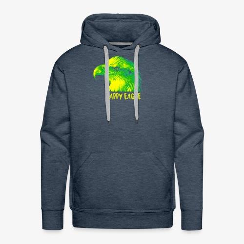 happy eagle - Sweat-shirt à capuche Premium pour hommes
