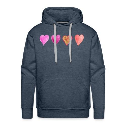 Herzen - Männer Premium Hoodie