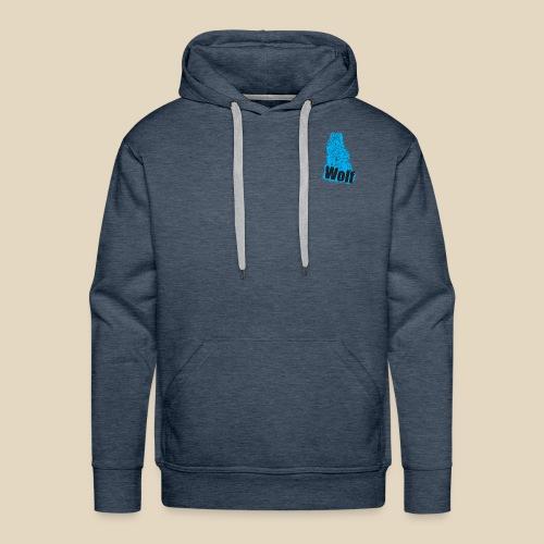 Blue Wolf - Sweat-shirt à capuche Premium pour hommes