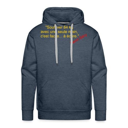 La Méthode Française humour 2 recto - Sweat-shirt à capuche Premium pour hommes