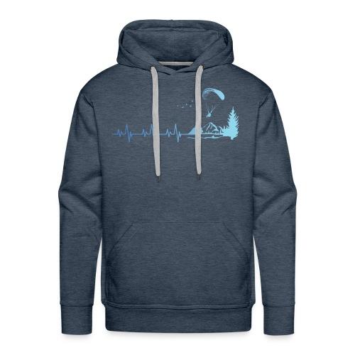Parapente - Parapentiste - Sweat-shirt à capuche Premium pour hommes