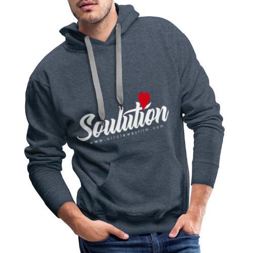 Soulution Logo – weiß - Männer Premium Hoodie