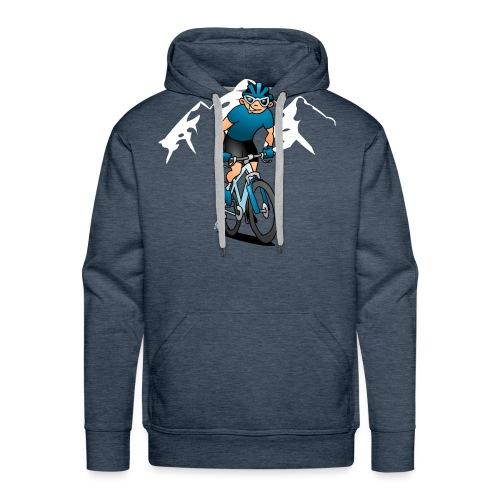 MTB - Mountain biker in the mountains - Men's Premium Hoodie