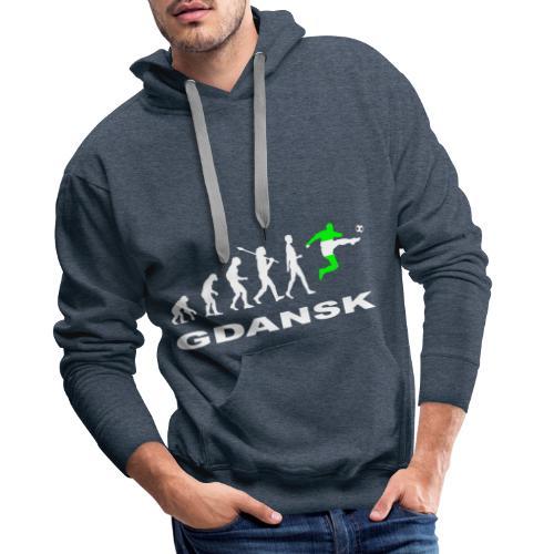 Ewolucja piłka nożna Gdansk wh - Bluza męska Premium z kapturem