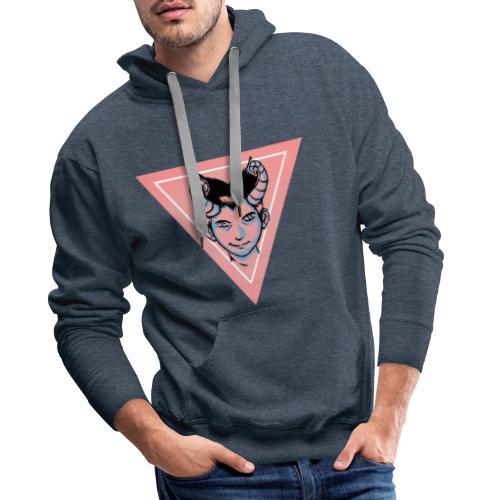 démon triangle rose - Sweat-shirt à capuche Premium pour hommes