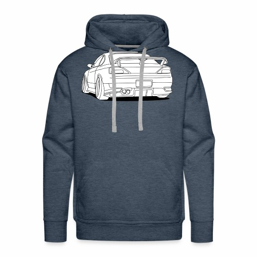 cool car white - Men's Premium Hoodie