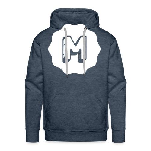 Messiosen symbol sort neg - Premium hettegenser for menn