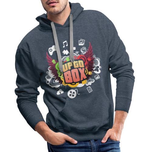 Uptobox - Sharing Galaxy - Sweat-shirt à capuche Premium pour hommes