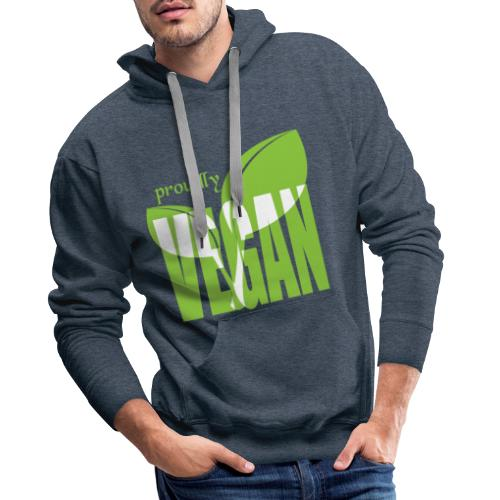 proudly vegan - Männer Premium Hoodie