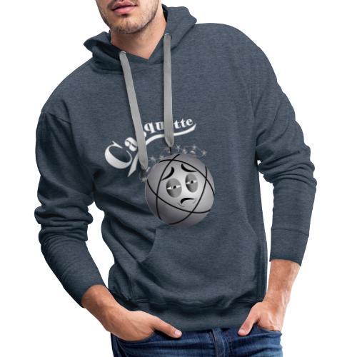 petanque casquette tireur humour fond sombre - Sweat-shirt à capuche Premium pour hommes