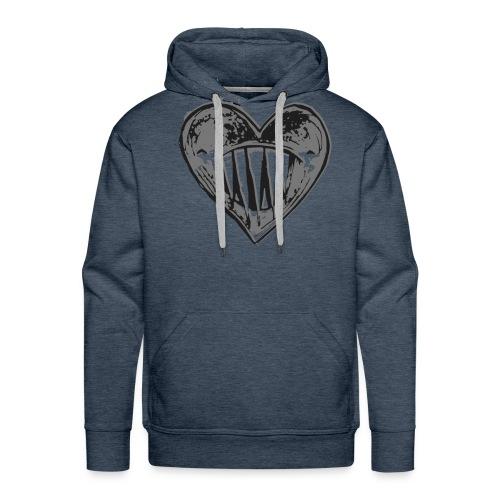 Corazón Negro - Sudadera con capucha premium para hombre
