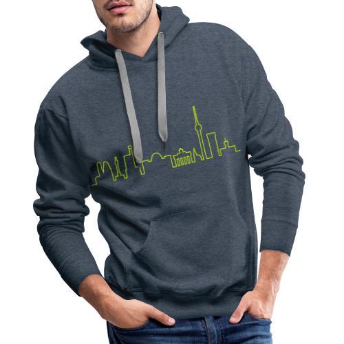 Skyline of Berlin - Sweat-shirt à capuche Premium pour hommes