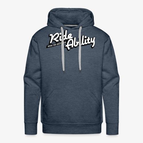 RideAbility classic logo - Sweat-shirt à capuche Premium pour hommes