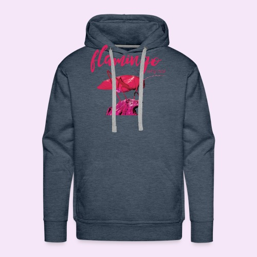 Wannabe Flamingo Sprinkhaan HOT PINK BABY - Mannen Premium hoodie