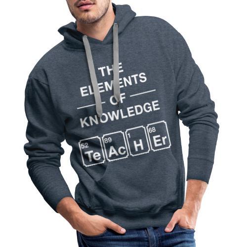Lustig Periodensystem Lehrer Shirt Geschenk - Männer Premium Hoodie