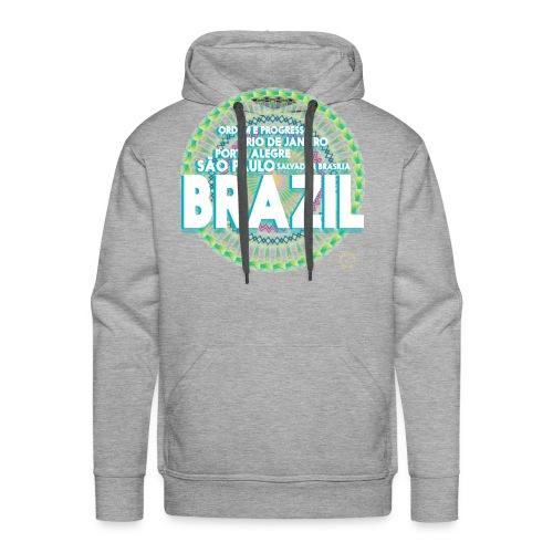 Lemon Brazil Mandala - Sweat-shirt à capuche Premium pour hommes