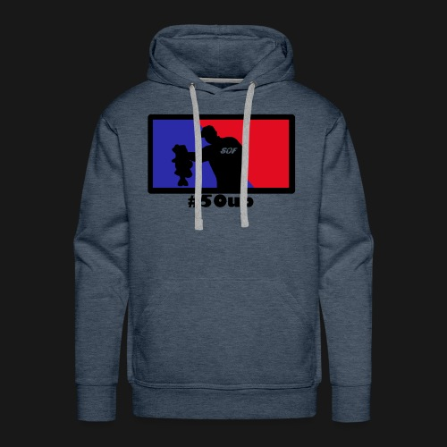 Blue Red b png - Männer Premium Hoodie
