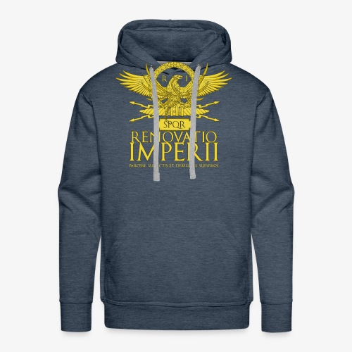 Emblema Renovatio Imperii - Felpa con cappuccio premium da uomo