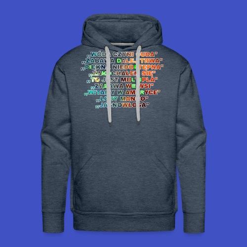 Piosenki Dis Koliber - Bluza męska Premium z kapturem