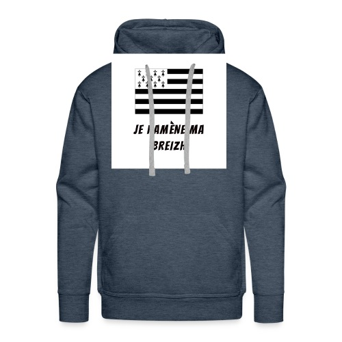 je ramene ma breizh - Sweat-shirt à capuche Premium pour hommes