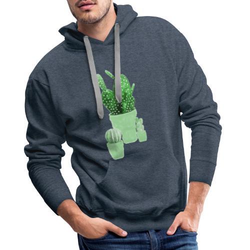 CACTUS AQUARELLE - Sweat-shirt à capuche Premium pour hommes