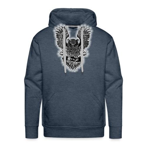Gufo reale nero - Black Owl - by Mescal - Felpa con cappuccio premium da uomo