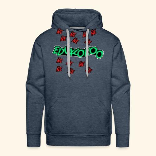 logo de eduxlokoo ñe - Sudadera con capucha premium para hombre