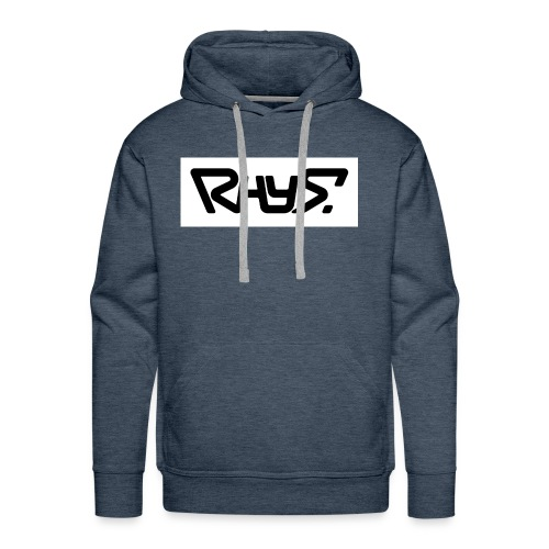 rhys basic logo black jpg - Men's Premium Hoodie