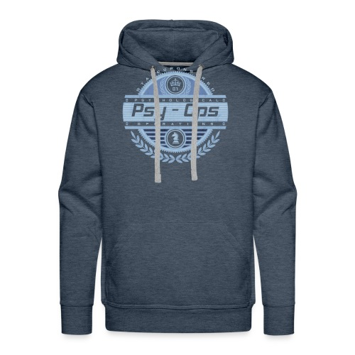 PSYCHOLOGICAL OPERATIONS BLUE - Men's Premium Hoodie
