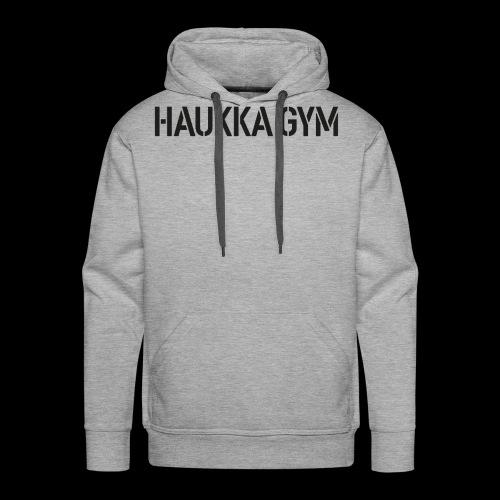 HAUKKA GYM text - Miesten premium-huppari