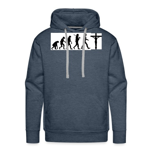 Evolution png - Männer Premium Hoodie