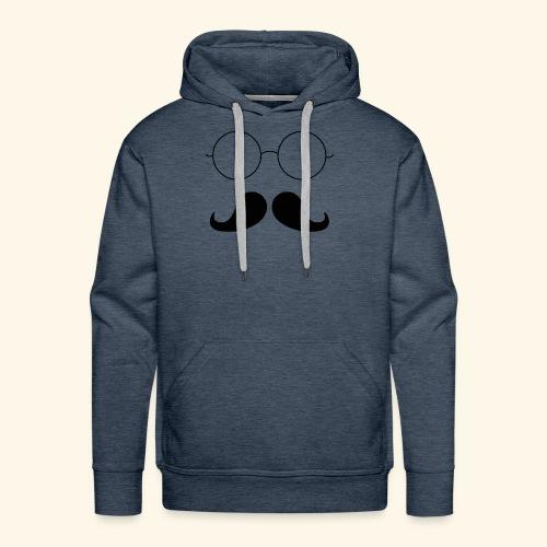 Moustachu - Sweat-shirt à capuche Premium pour hommes