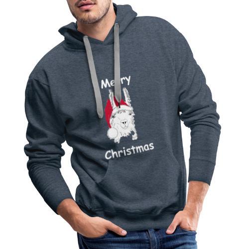 Weihnachtslama - Männer Premium Hoodie