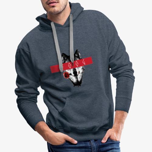 Wolf and Rose F00G - Sudadera con capucha premium para hombre