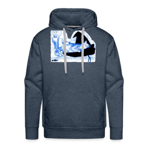 Tyrrin Hexenkater auf Hut (blau) - Männer Premium Hoodie