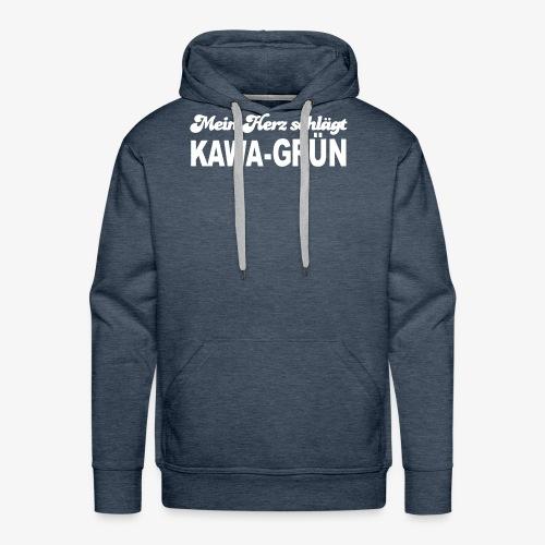 Mein Herz schlägt KAWA GRÜN - Männer Premium Hoodie