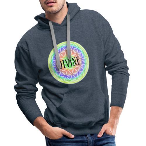 Mandala Blume des Lebens Divine, bunt - Männer Premium Hoodie