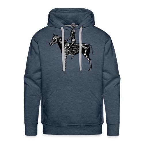 Reiter-Skelett - Mannen Premium hoodie
