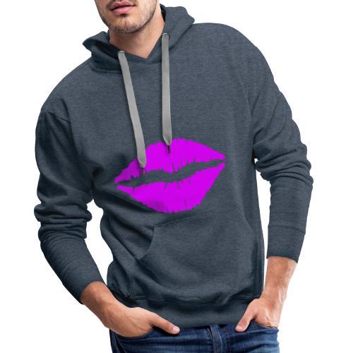mund Lipen hel violet - Männer Premium Hoodie