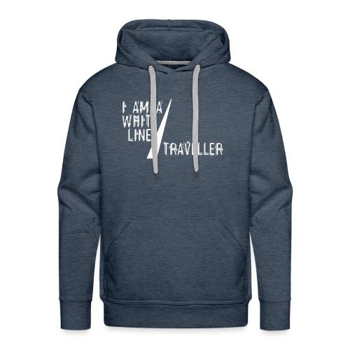 i am a white line traveller - Mannen Premium hoodie